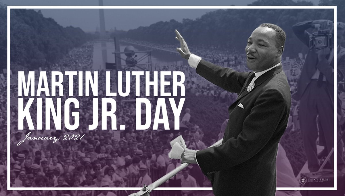 Guided by Dr. Martin Luther King, Jr.'s transformative work, we will never stop fighting For The People, to strengthen our democracy and build a brighter, more just and equal future for all. #MLKDay speaker.gov/newsroom/11821