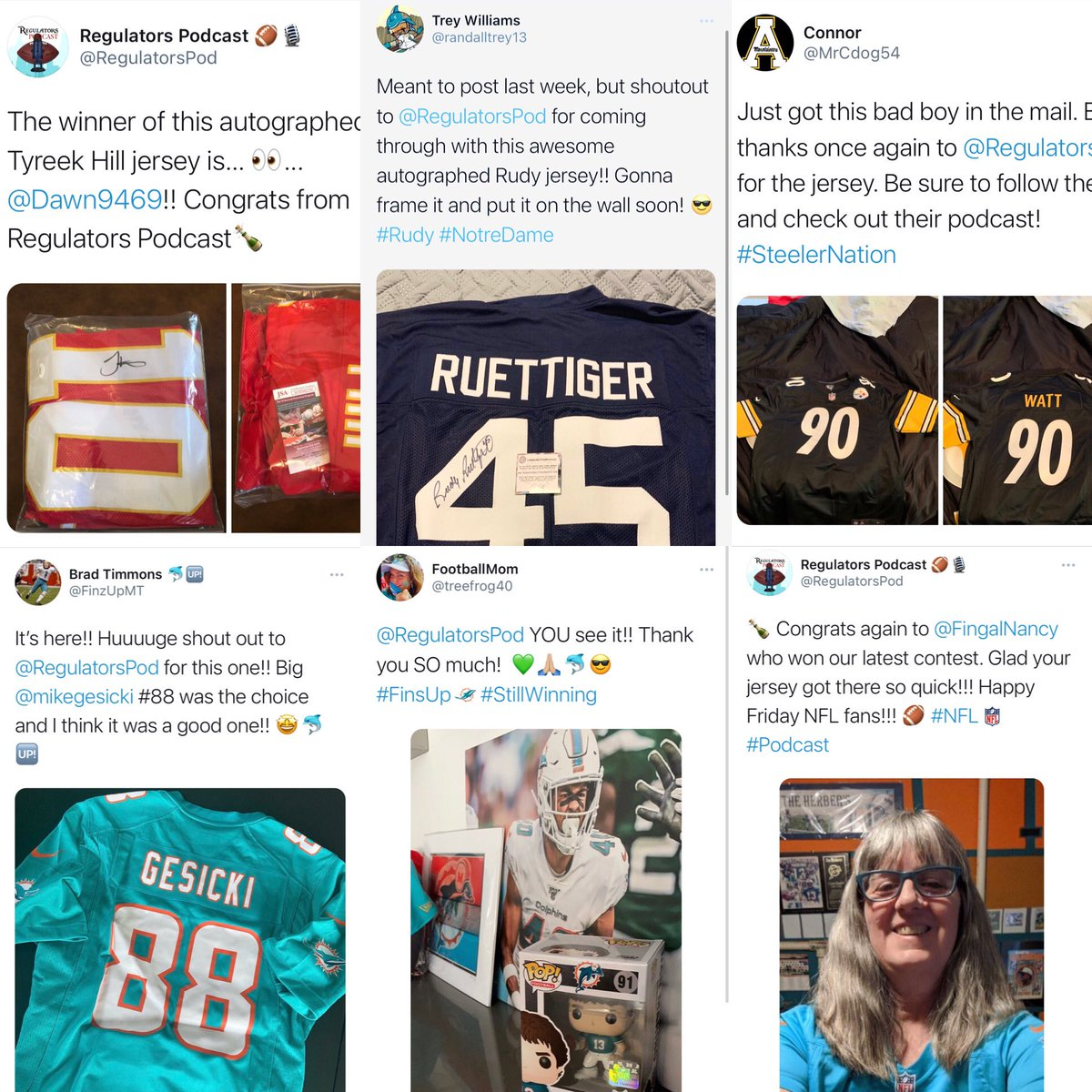 But does your favorite #NFL podcast show you the love? Mad respect ✊🏼 to the Regulators around the world. @Dawn9469 @randalltrey13 @MrCdog54 @FinzUpMT @FingalNancy