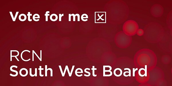 I am running for a seat on the South West RCN board, representing Nurses on local and regional issues, driving improvement and excellence forward as well as showcasing outstanding projects and care delivery throughout the region. Voting opens Thursday—>RCN website! #RCN #vote