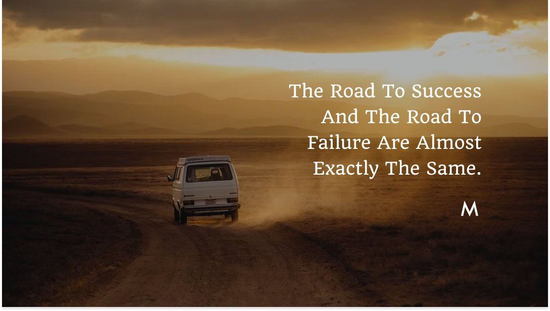 The Road To Success And The Road To Failure Are Almost Exactly The Same.  #marketiqs #mondaymotivation #monday #mondaymood #motivation #mondayvibes #love #fitness #instagood #motivationalquotes #motivationmonday #inspiration #mondaymorning #positivevibes #instagram #quotes #goals https://t.co/ew4osKYZAN