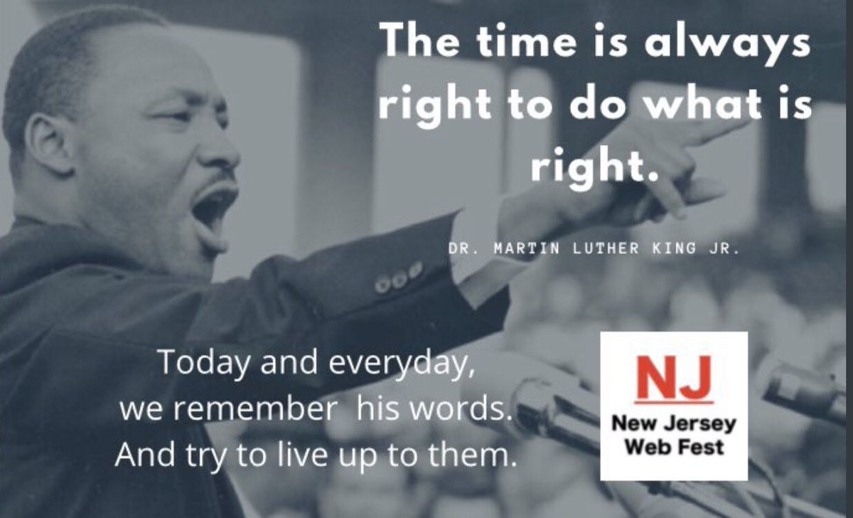 Always do what's right 🙏🏽  . . . . #MLK  #MLKDay   #MLKDay2021  #MartinLutherKingDay  #MartinLutherKing  #MartinLutherKingJr #NJWebFest