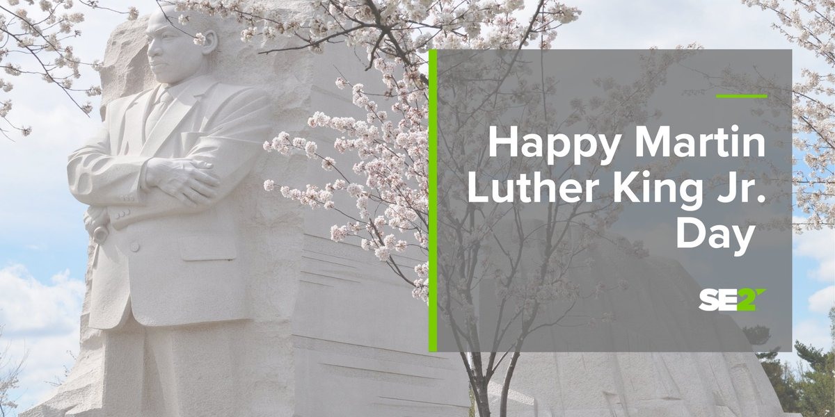 Wishing you a happy Martin Luther King Jr. Day! #MLKDay #MLK https://t.co/QmOwrCFD9J