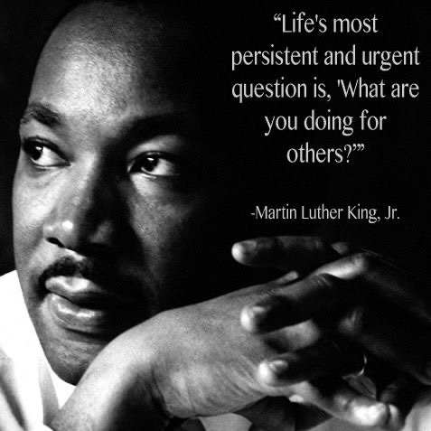 Doing for others doesn't necessarily mean spending money or a significant amount of time. It also means extending kindness to those around you, refraining from passing judgement and treating all with dignity, respect and equality.#MLKDay