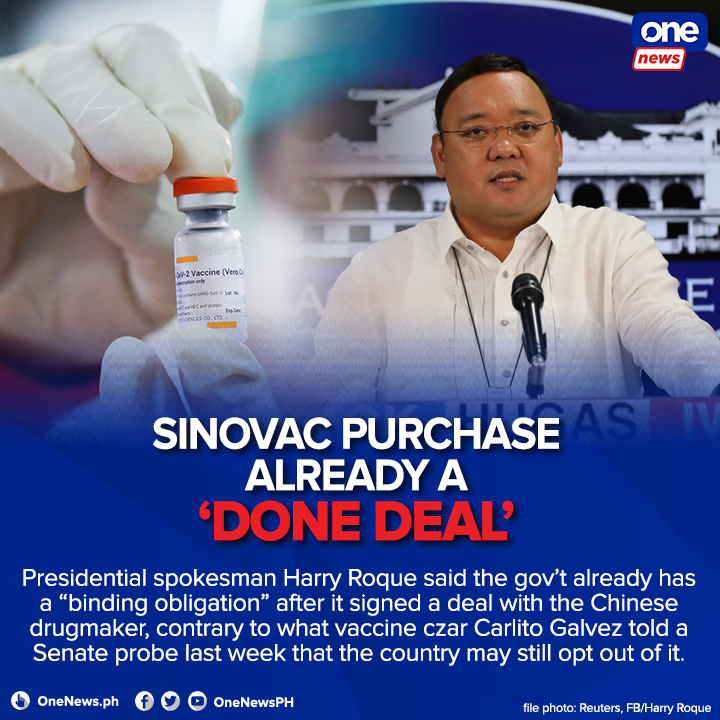 Malacañang refuting its own officials?  The Duterte administration continues to face questions on its seeming preference for Sinovac, whose efficacy rate remains unclear to date including its price. (via https://t.co/ecf5JyUJWW)  https://t.co/eMVBsbfdVv https://t.co/O1Vnjtqxk7