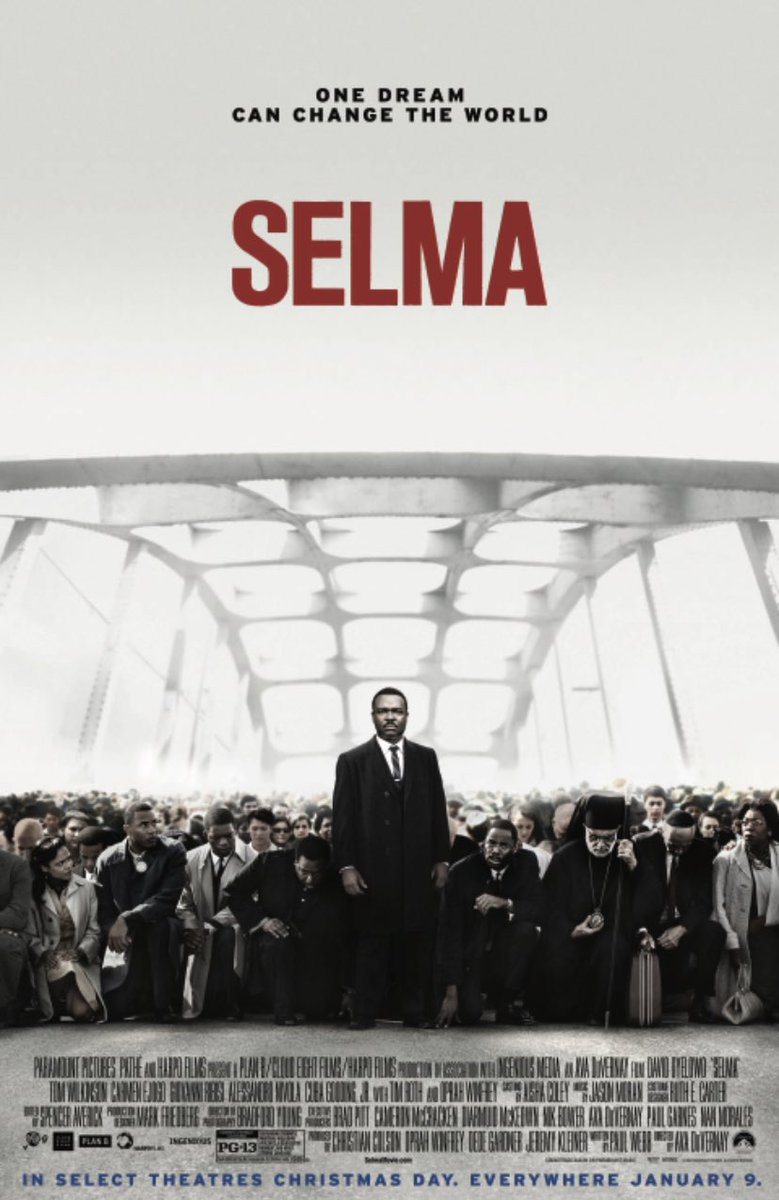 On this #MLKDay  one of many films to watch is this one from the marvelous and masterful @ava. 🙏🏿🖤Required viewing. And excellent. SELMA is *now*. #MLKDay2021