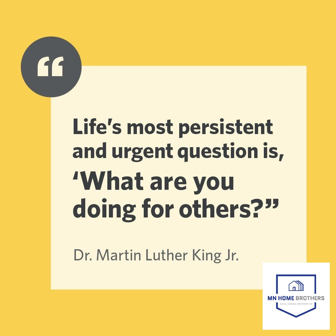 In honor of #MLKDay. A man who put it all on the line despite the challenges and shaped the world in such a positive way. . . . #mlk #mlkjr #inspiration #positivity #wordsofwisdom #mondaymotivation #mnrealestate #servingothers #builttoserve