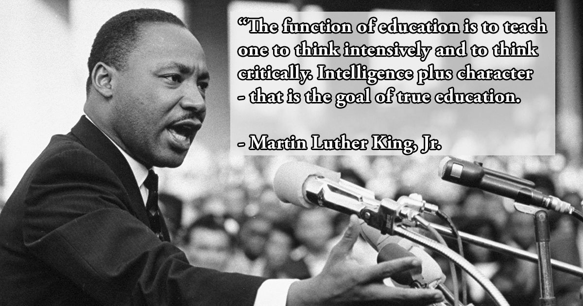 Today is Martin Luther King Jr. Day, a federal holiday honoring the legendary civil rights leader. As #UISedu reflects on Dr. King's legacy, we're sharing one of his powerful quotes about education. #MLKDay