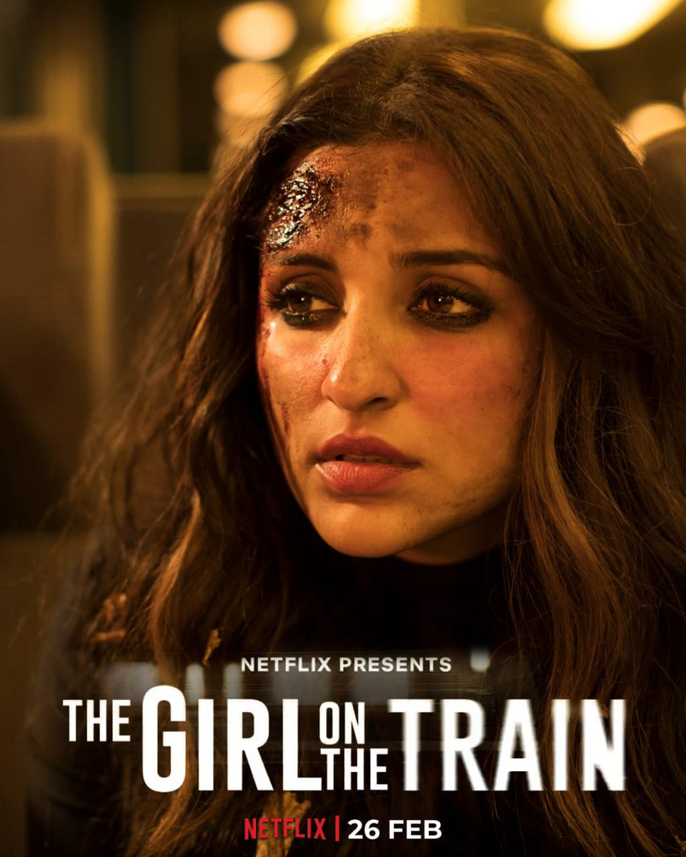 I have been waiting for this movie. I know we have book of this , can't do this @ParineetiChopra will win our heart .  Join us on a journey that you won't forget for a long time. #TGOTT premieres 26th Feb, only on Netflix.  #TheGirlOnTheTrain (poster make by @DuttKriti )