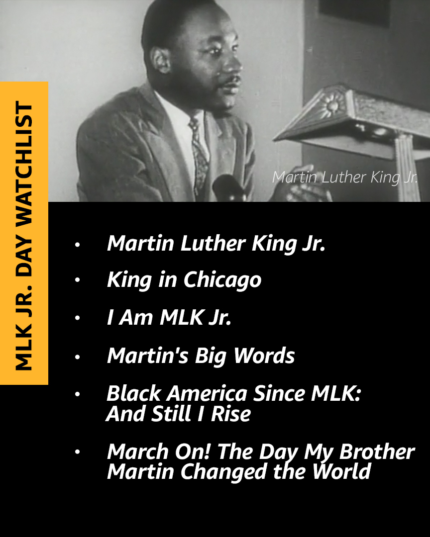 Learn something new about Martin Luther King Jr. by streaming one of these titles.