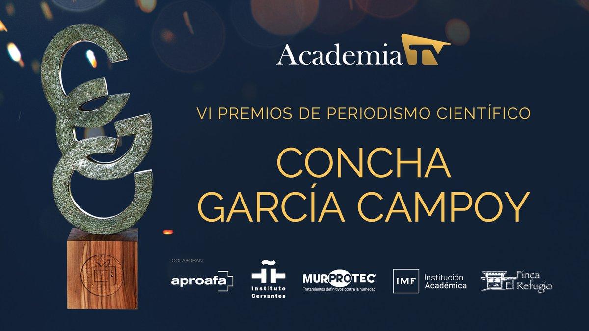Desde el @InstCervantes, sigue en directo a las 19:00h los Premios de Periodismo Científico #ConchaGarcíaCampoy. Presenta @CGHIRSCHFELD y colaboran @Murprotec, #Aproafa, @IMFFormacion y #FincaElRefugio  #PremiosCGC 👇