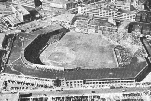 Aerial view of Fenway - circa 1912