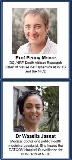 Proud to have our very own respected industry experts, Prof Moore and Dr Jassat presenting at the scientific discussion this evening. @HealthZA #FightCOVID19 https://t.co/61lvAkBQQ8