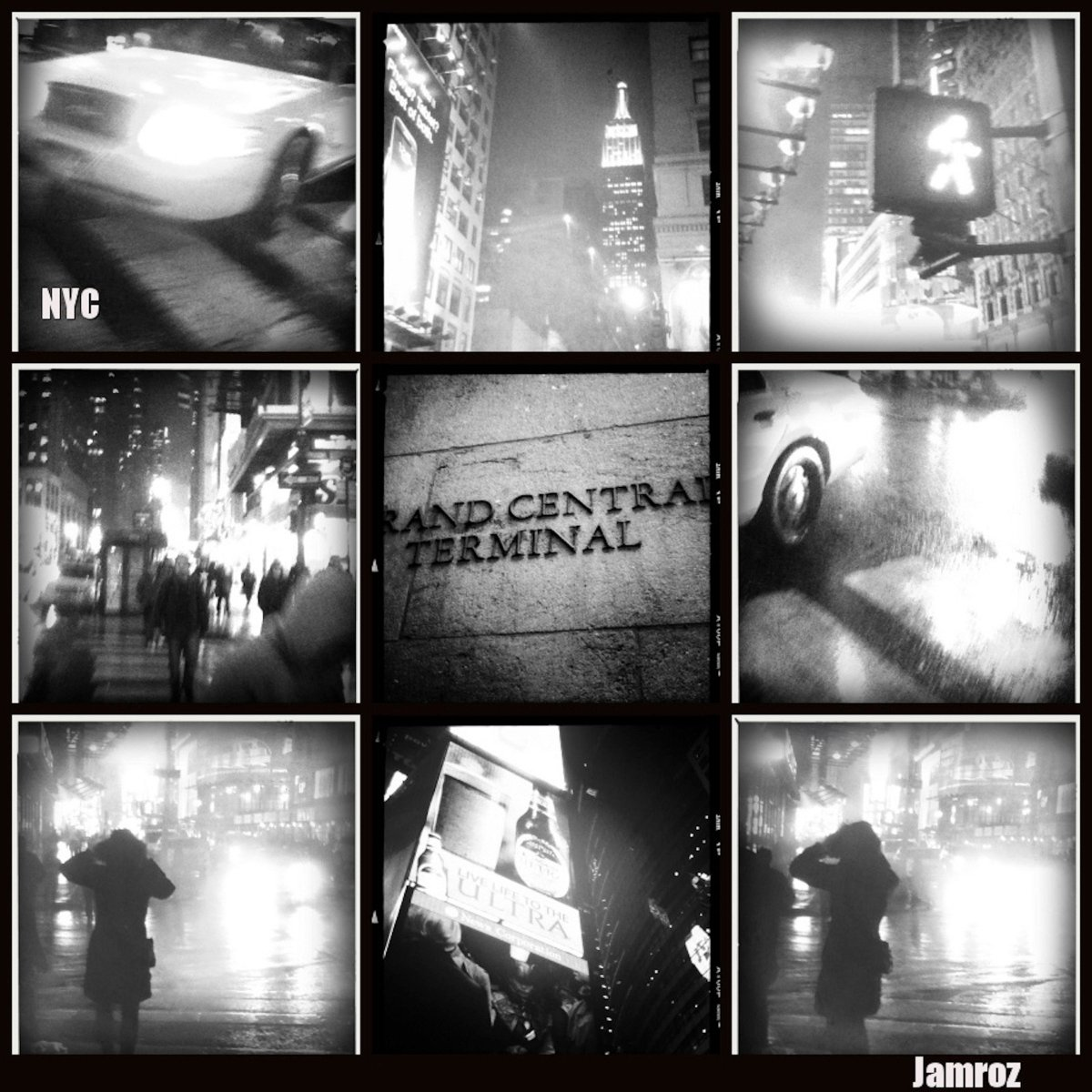 A #NYC Collage  #etsy shop: NYC in Black and White, New York, Midtown, Grand Central Canvas, Collage, Wall Art, Times Square  #Newyorkphotos #architecturecityscape #nyc #newyork #timessquare #grandcentral #blackand