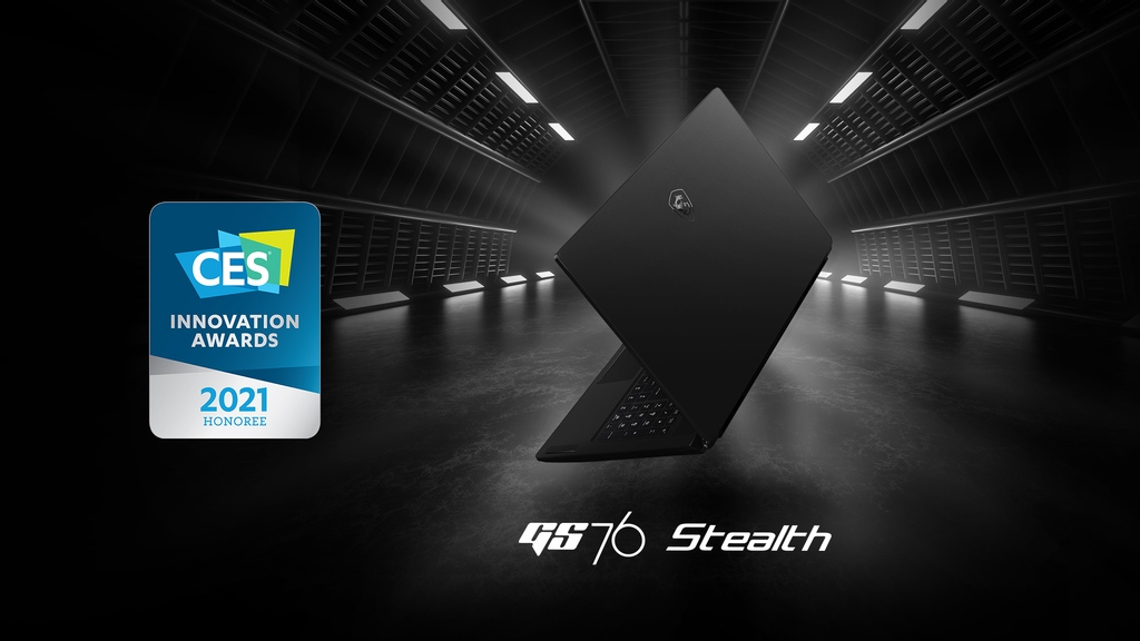 🏆 #CES2021 Innovation Awards Honoree: MSI #GS76 Stealth  #MSI #MSIGaming #LaptopMSI #GamingLaptop #CES #GamingSetup