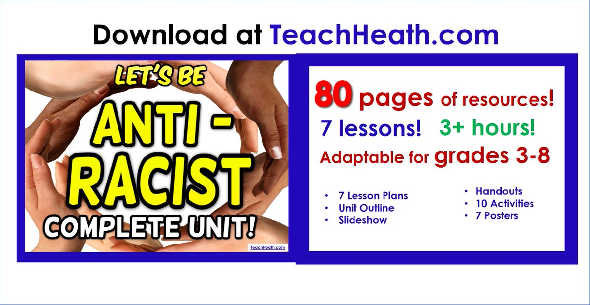 NEW!  Anti-racist unit for grades 3-8  80 pages of resources!  Download urs here:   #blm #BlackLivesMatter #blackhistorymonth #antiracist