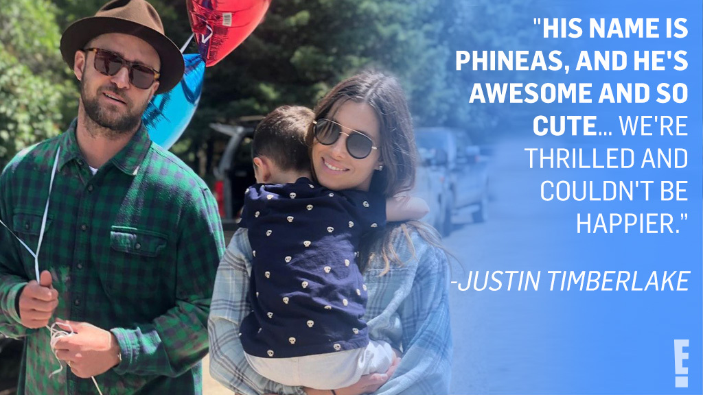 Phineas Timberlake. 🥺 Justin Timberlake finally opened up about welcoming a second child with Jessica Biel, and we can't stop the feeling it gave us.