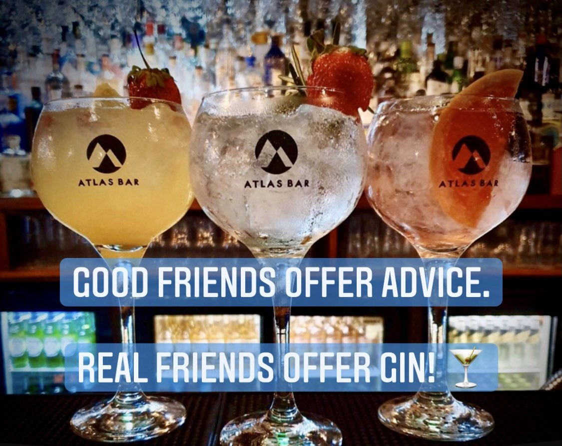 Happy #BlueMonday #Manchester 💙  We hope @TheAtlasBar you're all staying safe. Why not check in with friends and family today for a #Gin wag to keep spirits up? ☺️ #WereAllInThisTogether 🐝