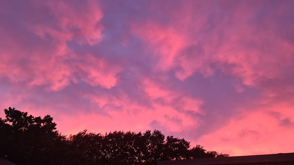 Red sky morning,  shepherds warning