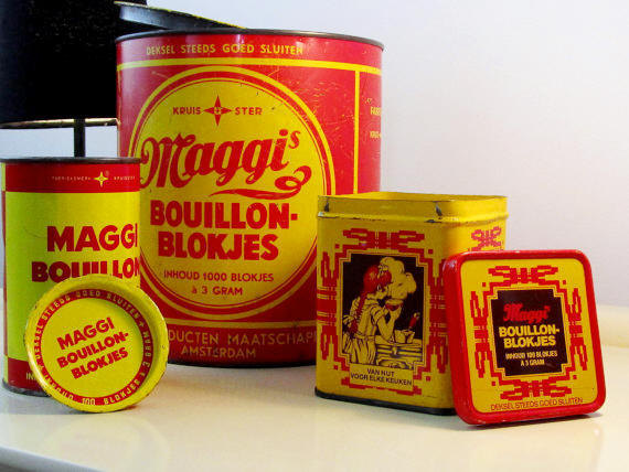 Vintage Old MAGGI Bouillon Cubes 3 Tin Box, Dutch Tin Boxes, Home Decor, Red and Yellow Color, Kitchenelia, Christmas Home Decor  #Vintage #Christmas #Retro #CYBERSALE #BlackFriday #covid-19 #FREESHIPPING #Wedding #VintageTinBox