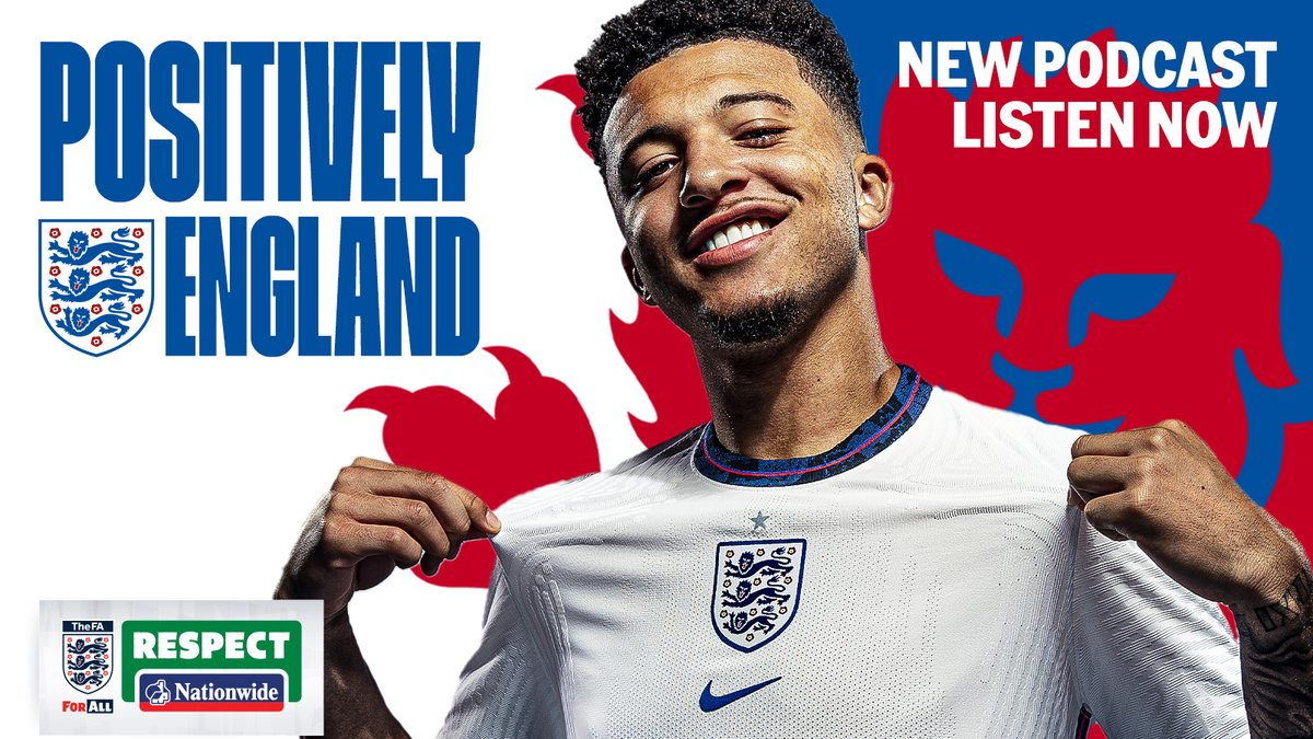 🎙 𝙄𝙣𝙩𝙧𝙤𝙙𝙪𝙘𝙞𝙣𝙜 𝙋𝙤𝙨𝙞𝙩𝙞𝙫𝙚𝙡𝙮 𝙀𝙣𝙜𝙡𝙖𝙣𝙙   A brand-new podcast with the #ThreeLions and #Lionesses as part of the @FA's 21 Days of Positivity! First up: it's @Sanchooo10!  Listen here: