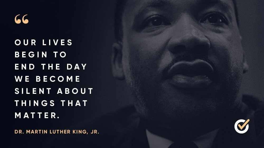 This Martin Luther King Jr. Day, we're reminded of our need to advocate for our communities and speak out against injustice every day.