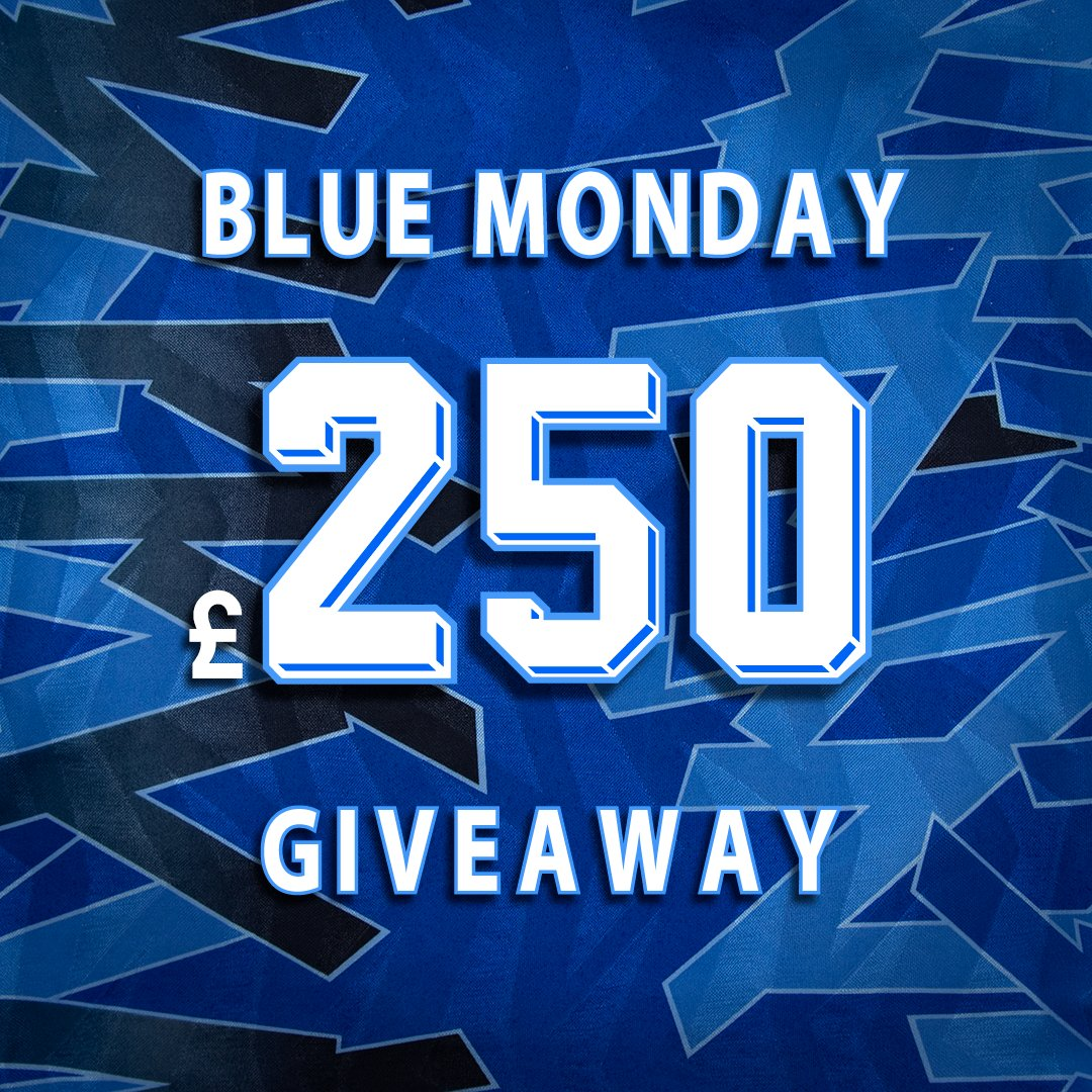As it's Blue Monday, we're giving away £250 website credit!  To Enter👇  1. Retweet this post 2. Follow @classicshirts  3. Comment #ClassicFootballShirts