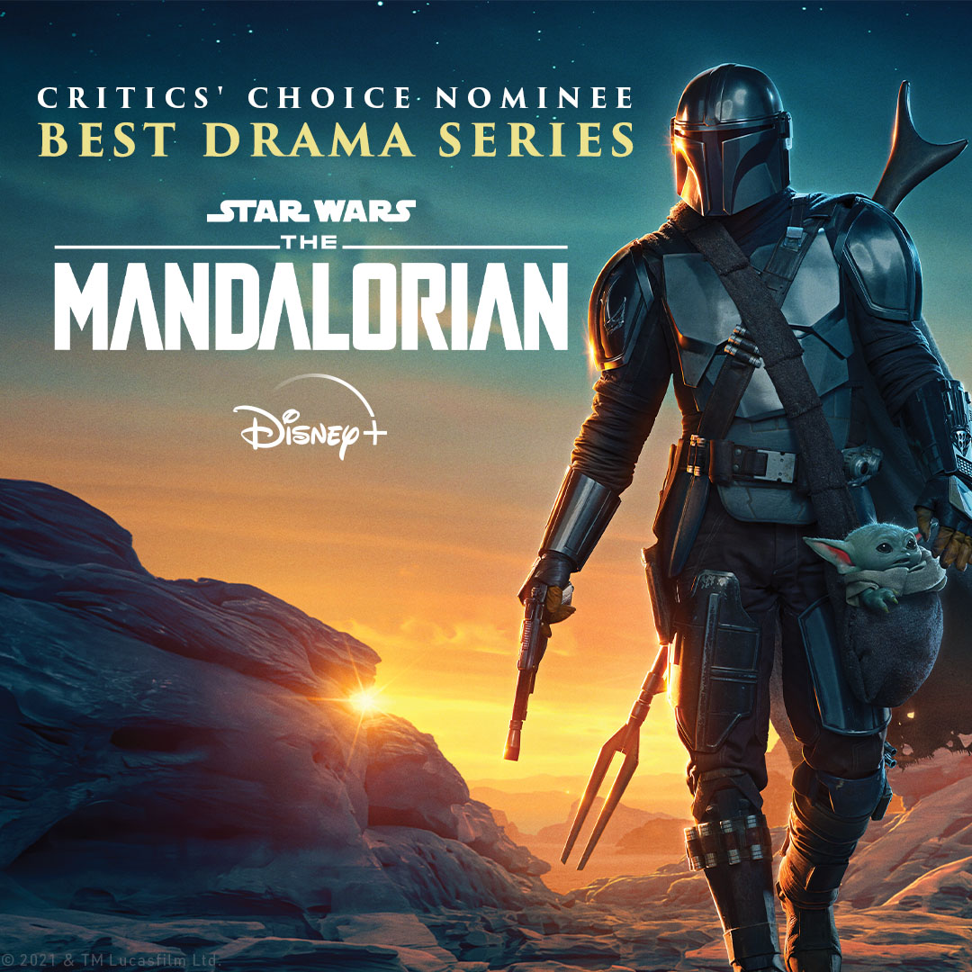 Congratulations to #TheMandalorian for its Best Drama Series nomination by the @CriticsChoice Association.