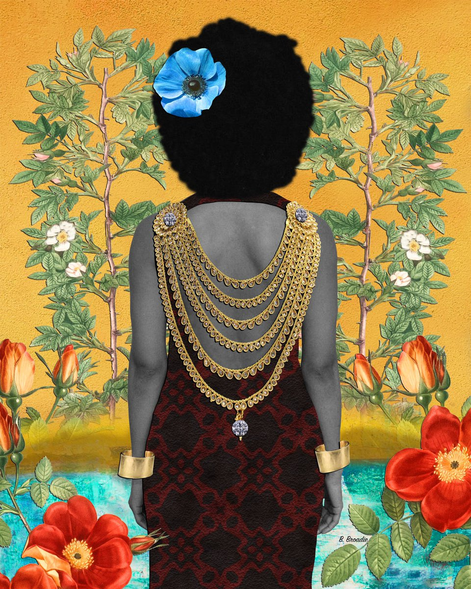 """My inspiration has been birthed from the richness of Black history — the past, present and possibilities of the future."" —Washington, DC-based artist @BBroadie04 #MLKDay"