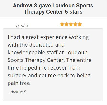 ⭐️⭐️⭐️⭐️⭐️You can get results like Andrew! Give Loudoun Sports Therapy Center a call at 703-450-4300 to schedule your evaluation!  #physicaltherapy #livepainfree #referral #results #success #evaluation https://t.co/xnu2CLXBmN