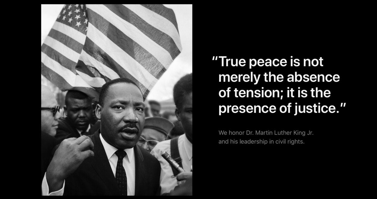 Today we honor the incredible life and impact of Dr. Martin Luther King, Jr. #MLKDay