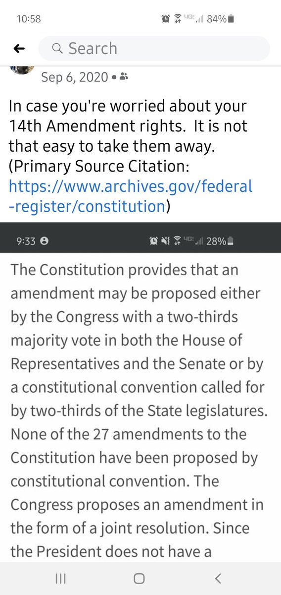 Its funny that I posted on FB about the 14th amendment back in September, I saw it coming even before then. @tedcruz you need a civics lesson #Constitution #14thAmendment  #section3 #rebellion #insurrection