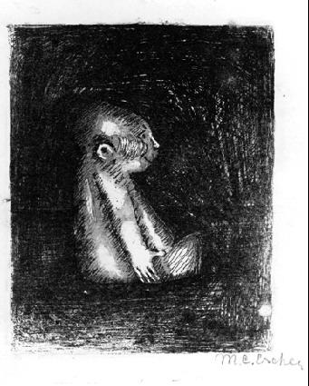 Mascot, 1917 #expressionism #mcescher