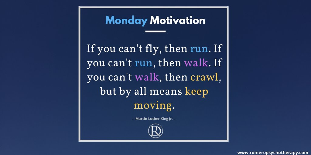 Happy Monday to all of our followers!  For today's #MondayMotivation, we are taking a quote from civil rights and US history icon Martin Luther King Jr. about perseverance and achievement despite vast hardships.   #MentalHealthAwareness #Therapy #MLK #MartinLutherKing #MLKDay