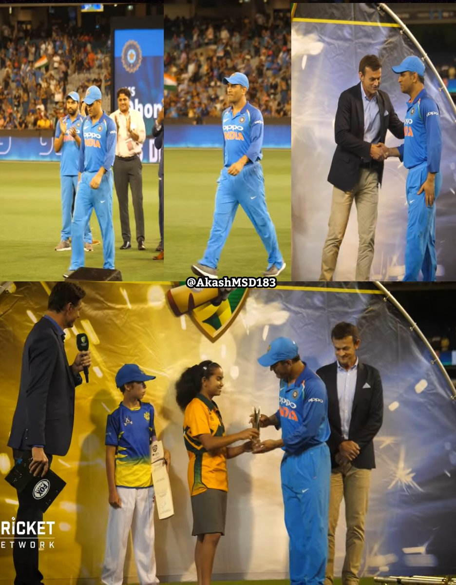 #OnThisDay in 2019  MS DHONI BECAME OLDEST INDIAN TO GET MAN OF THE SERIES AWARD IN ODIs  Not even a single half century in 2018, trolls and criticism; And he replied with 3 consecutive half centuries of first series in 2019 that too in Australia @msdhoni • #MSDhoni • #Dhoni