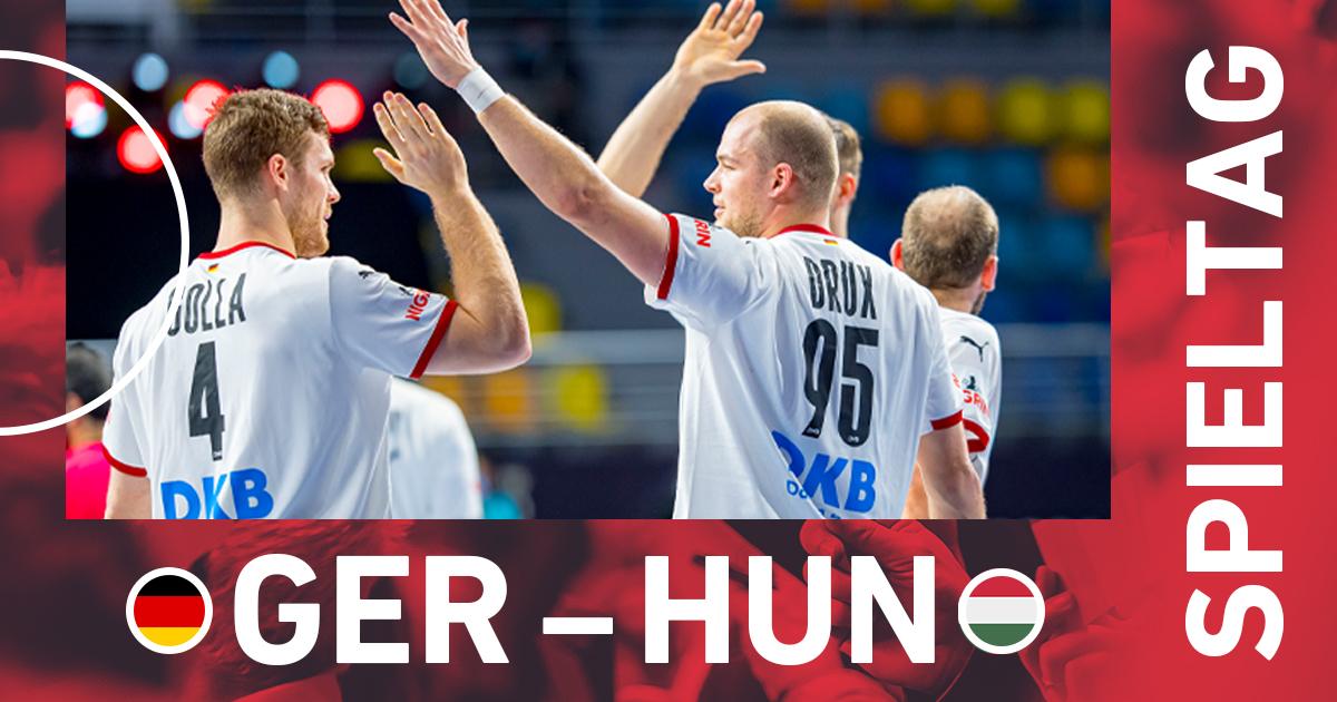 #SPIELTAG 💪 🏆 @Egypt2021 🆚 Ungarn 🇭🇺 🏟 Kairo ⏰ 20.30 Uhr 📺 @ZDFsport 📲 #GERHUN #WIRIHRALLE #aufgehtsDHB #handball @ihf_info @TeamD https://t.co/IZG28n9QhD