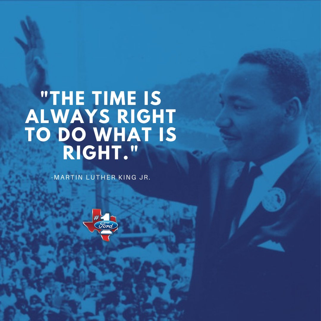 Honoring the legacy of Martin Luther King, Jr. Happy MLK Day! #NTXFord #Ford #MLKDay