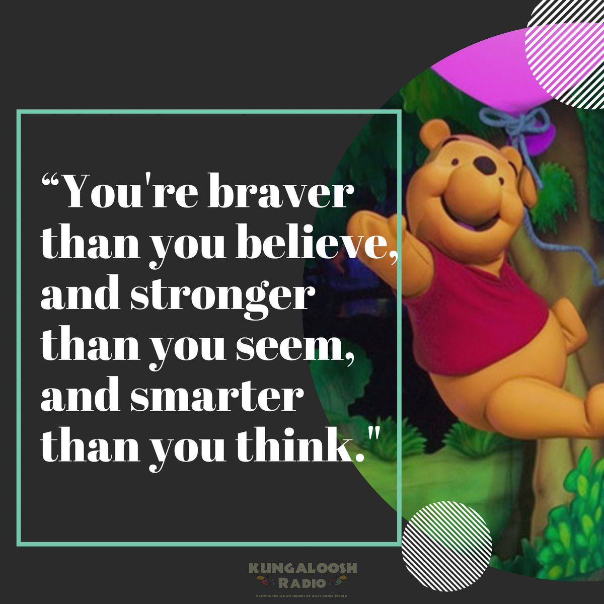 I've always wanted to do a weekly #MondayMotivation post. What better way to start than with that silly old bear on National Winnie the Pooh Day. 🐻