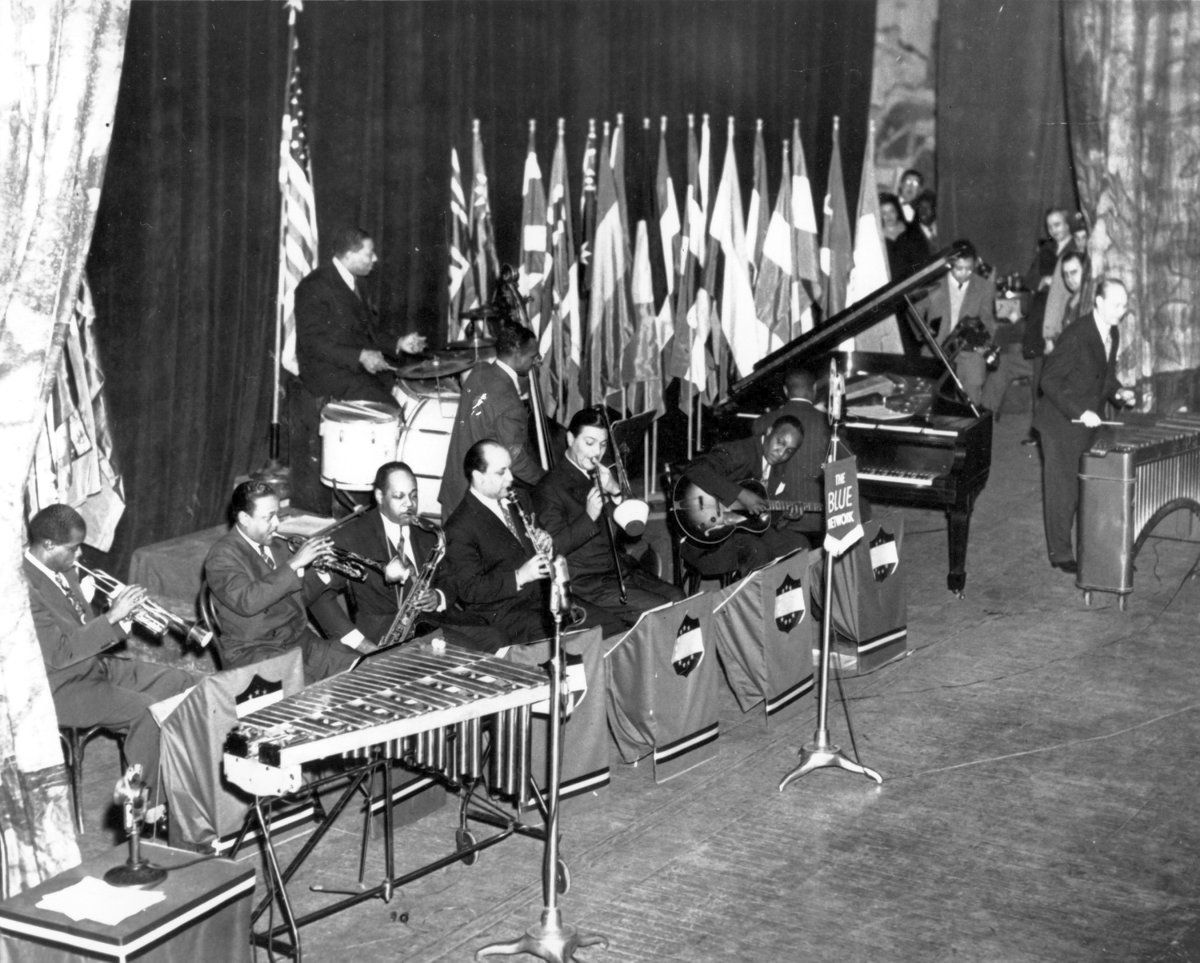 On this day in 1944, the Metropolitan Opera House in New York City hosts a jazz concert for the first time. The performers were Louis Armstrong, Benny Goodman, Lionel Hampton, Artie Shaw, Roy Eldridge and Jack Teagarden.  #onthisday #Boca