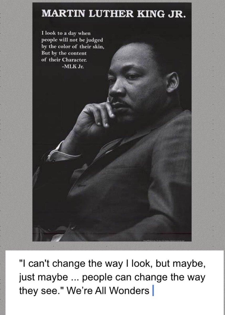 #MLKDay #wonder @OSchool4