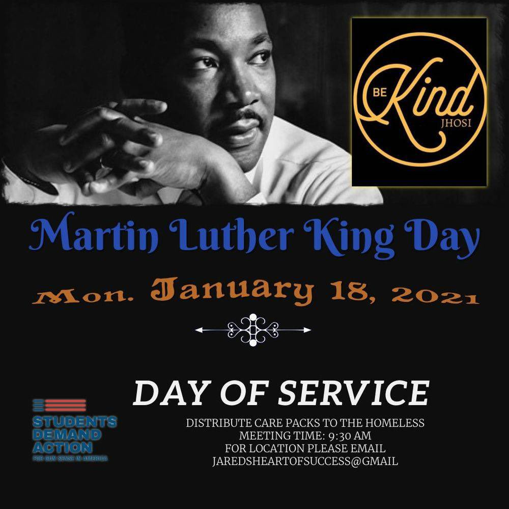 #MLK2021 1/18/2021 - M/T 9:30 AM Joint Effort: JHOSI, Students Demand Action, Moms Demand Action -Dekalb GA Volunteers join together for a day on not a day off to #serveothers