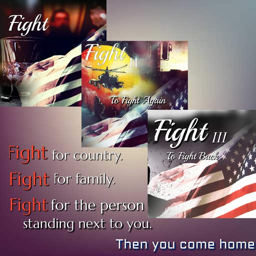 The #Fight series is unique in that it's fiction but written from various character's perspectives in order to give a personal view of situations & circumstances. Every service member has a story, so returning home is not the same for everyone. #veteransunite #veteransawareness
