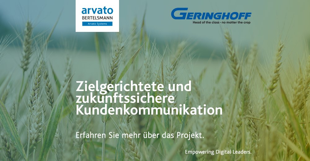.@Geringhoff möchte seine Kunden noch genauer kennen lernen und setzt deshalb auf Arvato Systems als Partner und #SAP #C/4HANA. Lesen Sie mehr dazu unter: