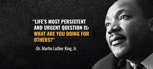 Challenge: Do at least one act of service for someone else today. #MLKDay