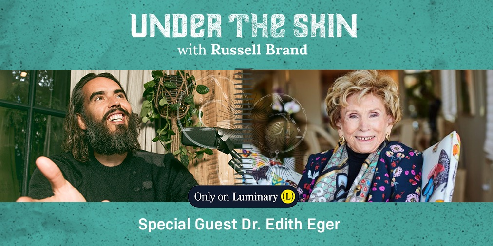 The latest guest on #UnderTheSkin is Dr. Edith Eger (@DrEdithEger1), author of 'The Gift: 12 Lessons to Save your Life', psychologist and Holocaust survivor.   You can listen to the conversation on  @hearluminary
