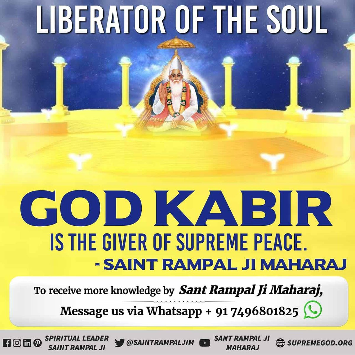 #MondayVibes  According to the all Holy scriptures God/Rab/Allah/Bhagawan is one His name is Lord Kabir 🙏 He is the creator of the whole Universes  VisitSatlok Ashram Youtube channel for more info  #MondayMotivation  #MondayMorning  #GodMorningMonday