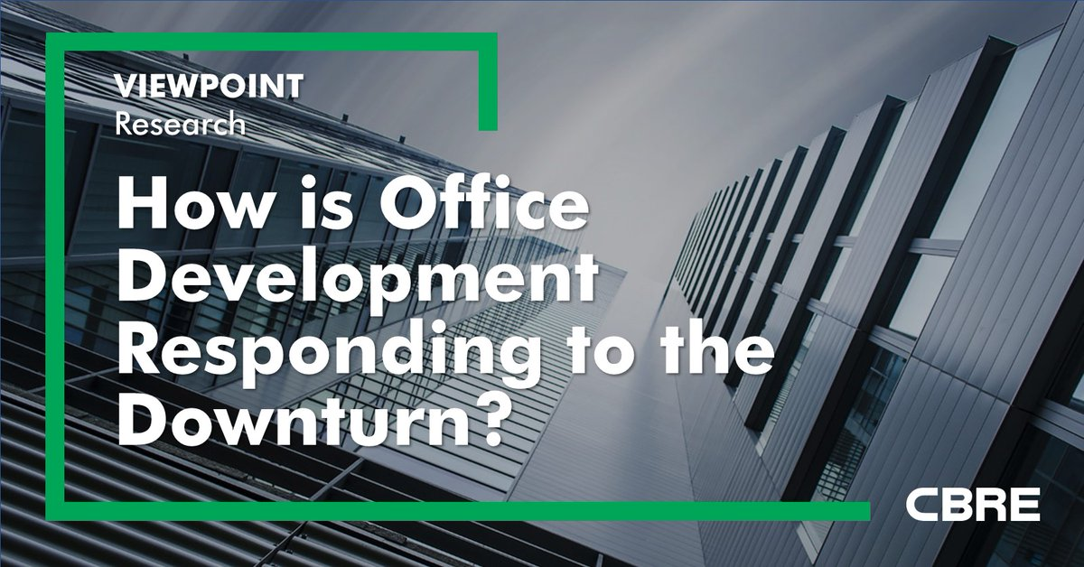 In a period of sustained weak demand for #office space, we would expect developers to reduce development activity and delay or downscale building completions, but has this happened?  https://t.co/NkYM4Y2rCl #OfficeMarket #OfficeDevelopment https://t.co/t9tKTkam8K