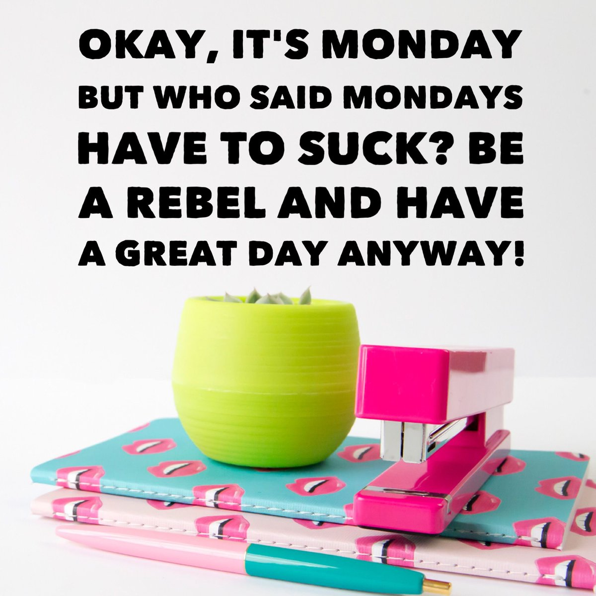 Okay, it's Monday 💕 But who said Monday's have to suck? Be a #rebel and have a #great #day anyway!!   #monday #morning #coffee #goals #happy #believeinyourself #inspiration #motivation #fitfam #cleaneating #mealprep #exercise #run #hike #healthychoices