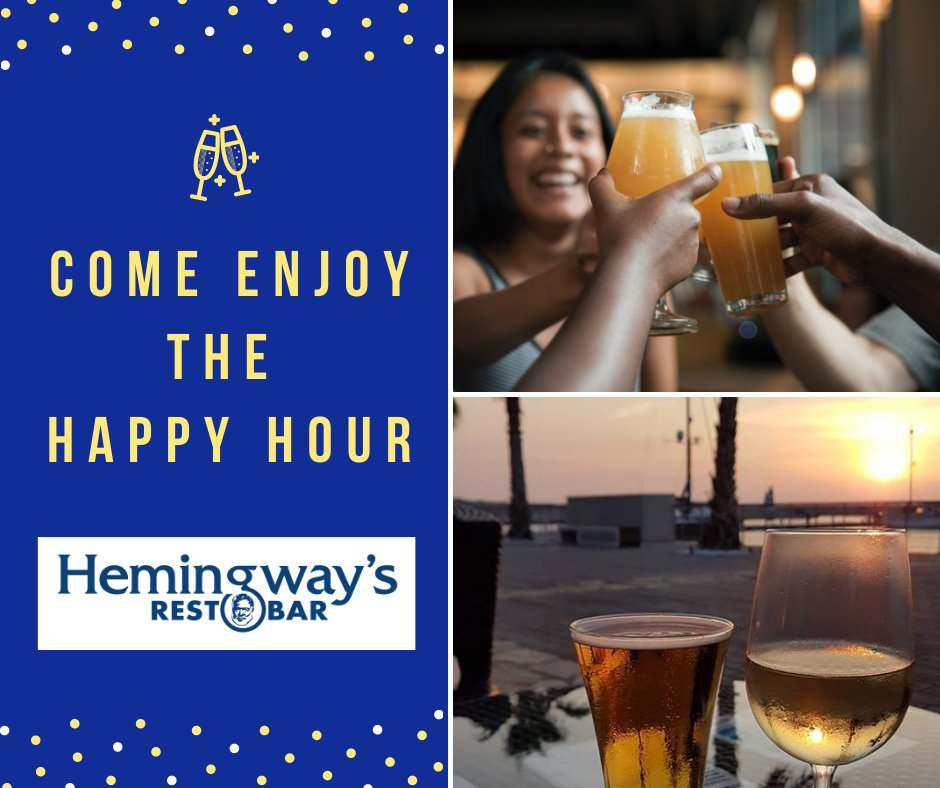 It's #BlueMonday, also known as the saddest day of the year. Bring a #friend and lift your spirits with us at Hemingway's #happy hour starting from 17:00 – 20:00, every day.