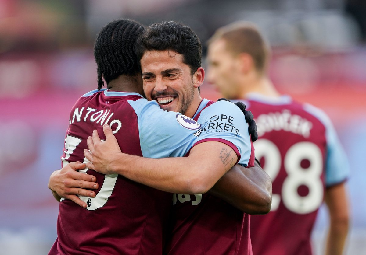 """🗣 """"I'm very happy Mikey is back and our partnership is still intact. That was the work we did in the week... I tried to do it and Mikey was in the right place and finished it!""""  @pablofornals 🤝 @Michailantonio"""