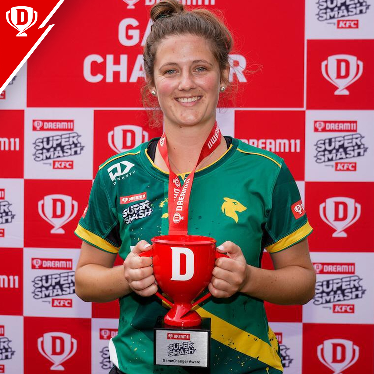Take a look at the #Dream11GameChanger award winners from today's #Dream11 @SuperSmashNZ matches 🤩  #CentralHinds' Anlo van Deventer - 63* off 40 balls #CentralStags' Josh Clarkson - 2/30 and 31 runs off 19 balls  Their performances helped their respective teams to win 👏